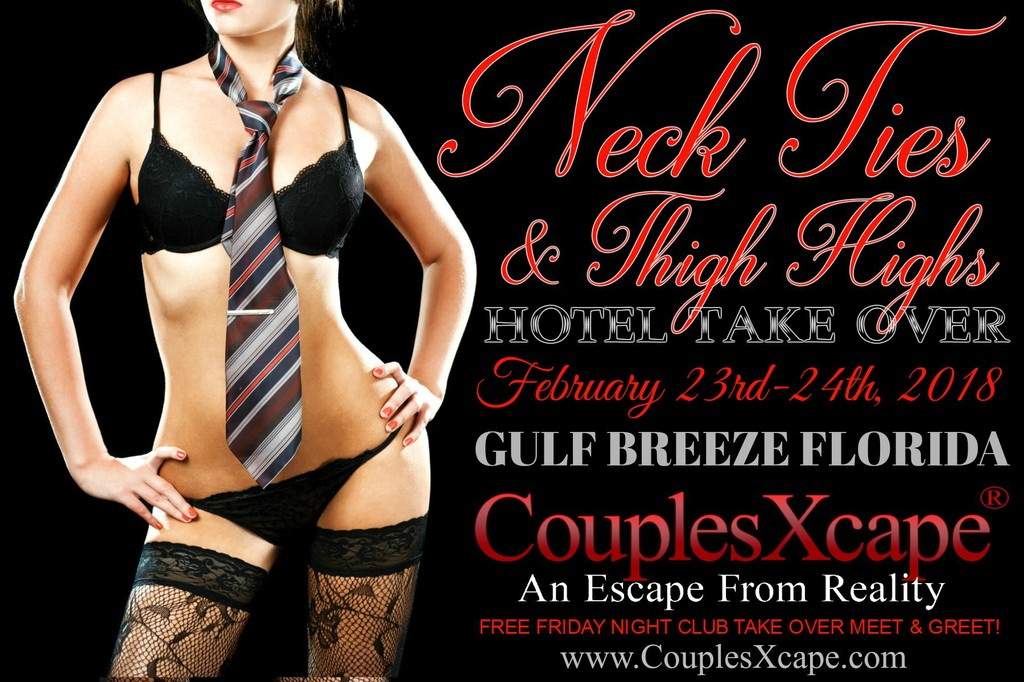 CouplesXcape® Neck Ties & Thigh Highs