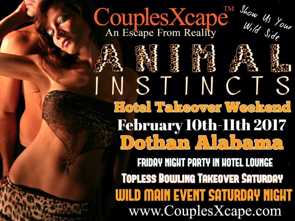 CouplesXcape Presents Animal Instincts Hotel Takeover