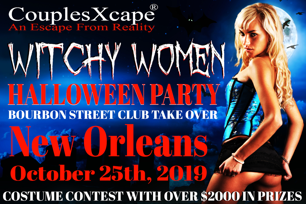 Witchy Women Halloween Party On Bourbon Street